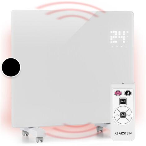Klarstein Bornholm Single Convector Radiador Calefacción Termostato Temporizador 1000W blanco