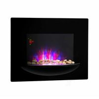 Klarstein brasero cheminée murale électrique 1800 W simulation de flammes - noir