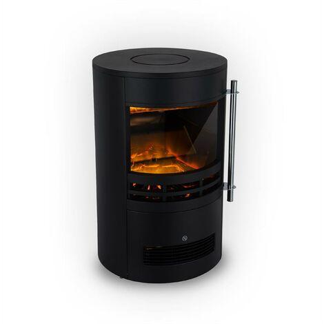 Klarstein Brixen Electric Fireplace 900 / 1800W InstaFire Thermostat Black