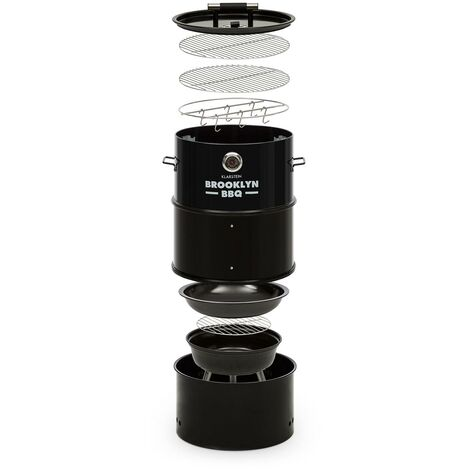 Klarstein Brooklyn-BBQ 4-in-1-Grillfass   Ø 42 cm   Stahl   pulverbeschichtet