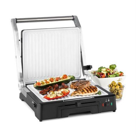 Klarstein Burgermeister 3en1 Barbecue grill de table presse à panini 2000 W