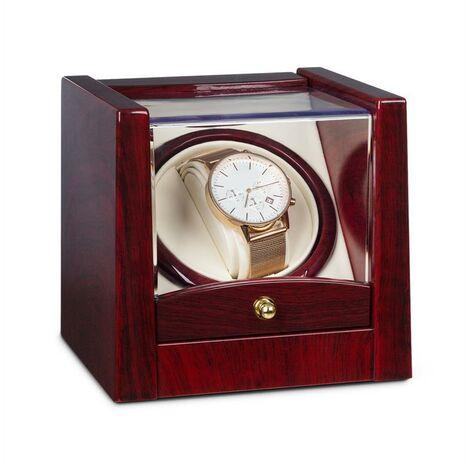 Klarstein Cannes Uhrenbeweger 1 Uhr Links-/Rechtslauf 2160 TPD Rosenholzoptik