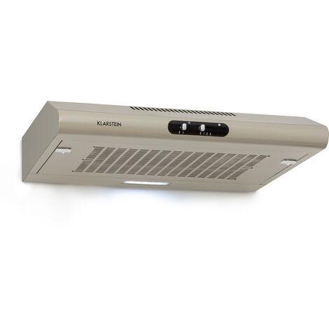 Klarstein Capannina Campana extractora encastrable 60cm 166m³/h LED control deslizante color plateado