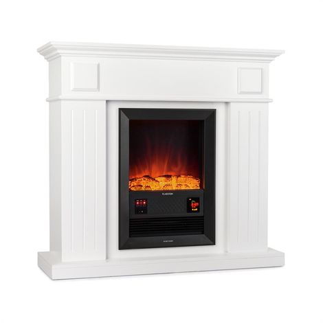 Klarstein Chamonix Electric Fireplace fan-heater 2000W white wood