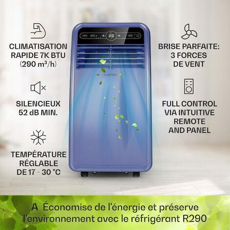 Klarstein Climatiseur mobile Metrobreeze New York Smart 7k 7000 BTU/2,1 kW EEC A Télécommande