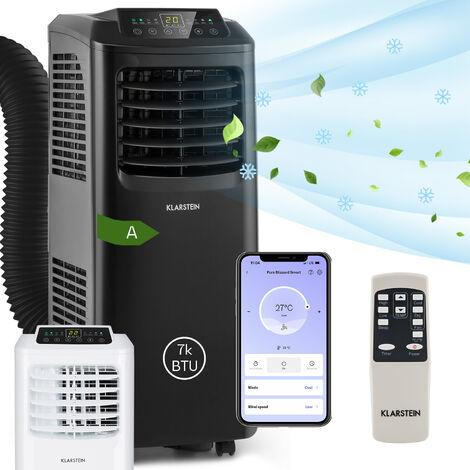 Klarstein Climatiseur mobile Pure Blizzard Smart 7k 7000 BTU/2,1 kW EEC A Télécommande