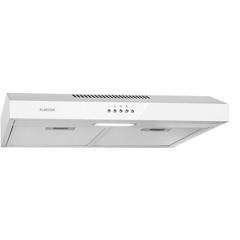 Klarstein Contempo Hotte aspirante visière 60 cm 175 m³ / h LED inox blanc