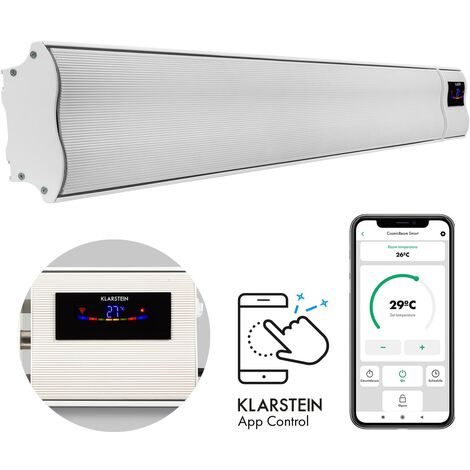 Klarstein Cosmic Beam Smart 24, Infrared Radiant Heater, 2000W, App Control, White