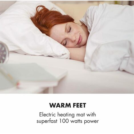 Klarstein Dr. Watson Heatzone L Almohadilla eléctrica 100W 65x40cm Microfelpa Gris piedra