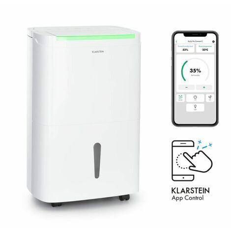 Klarstein DryFy Connect 30 Déshumidificateur d'air compression 30L/24h - Blanc