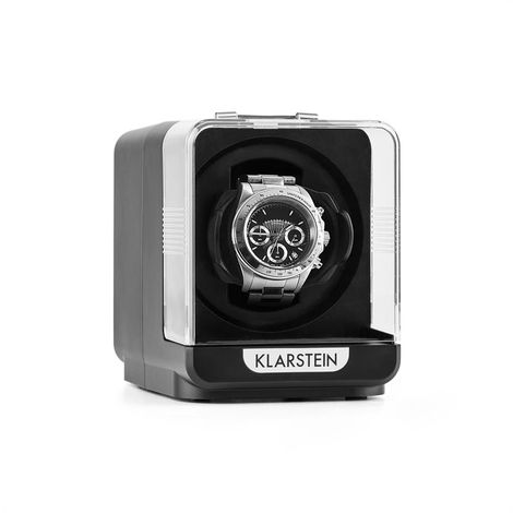 Klarstein Eichendorff Estuche para 1 reloj con rotación 4 modos negro