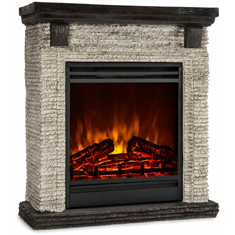Klarstein Etna cheminée électrique 1800W programmateur hebdomadaire télécommande grise/noire