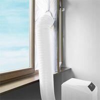 Klarstein Fensterabdichtung für mobile Klimageräte 3,9m Reißverschluss Klettband