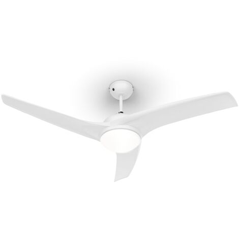 """Klarstein Figo Deckenventilator 52"""" 55W Deckenlampe 2x42W Fernbedienung weiß"""