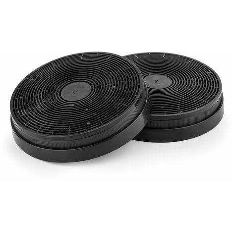 Klarstein Filtro de carbón activado para campanas extractoras Pieza de recambio 2 filtros Ø17,5 cm