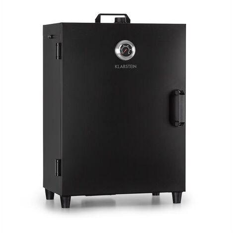 Klarstein Flintstone Smoker 1600 W Thermometer Stainless Steel Black