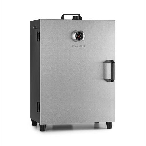 Klarstein Flintstone Steel Smoker 1600 W Built-in Thermometer Stainless Steel