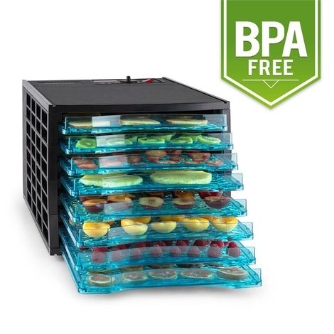 Klarstein Fruit Jerky 8 8-Tiered Food Dehydrator 630 W Black