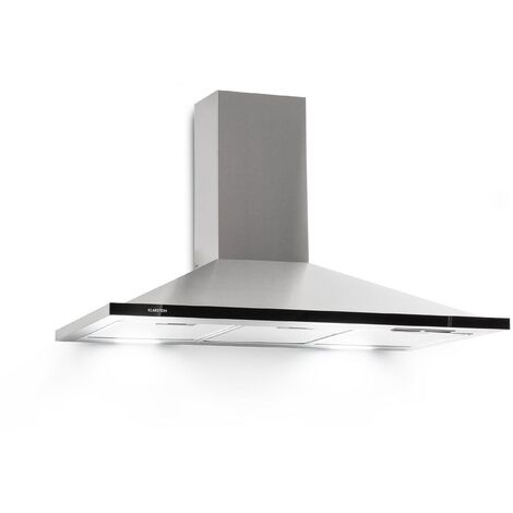 Klarstein Galina 90 Cooker Extractor Hood Extract Air 90cm 350m³ / h LED Stainless Steel Acrylic Glass