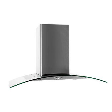Klarstein GL90WS Hotte aspirante acier 90cm 490m³/h
