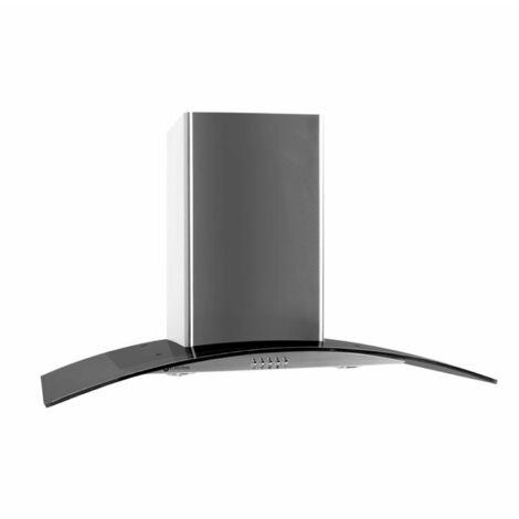 Klarstein GL90WSB Hotte aspirante acier 90cm 490m³/h