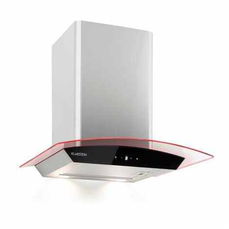 Klarstein Gloria Campana extractora modalidad aspirante 60cm 580m³/h RGB color negro/plateado
