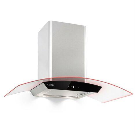 Klarstein Gloria Campana extractora modalidad aspirante 90cm 580m³/h RGBl color plateado/ negro