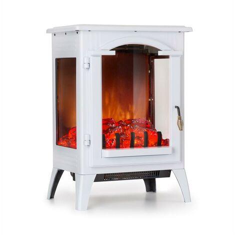Klarstein Graz Electric Fireplace 1000 / 2000W Thermostat PanoramaView White