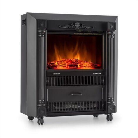 Klarstein Grenoble estufa decorativa chimenea electrica efecto llama 1850w negro