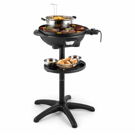 Klarstein Grillpot - Grill électrique / barbecue de table plaque en fonte Ø 40cm
