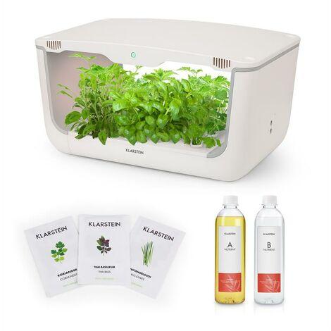 Klarstein GrowIt Farm Starter Kit I 28 plantas 48 W 8 l semillas Asia solución de nutrientes