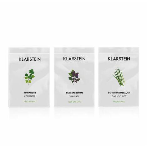 Klarstein GrowIt Seeds Asia 3 semillas: cilantro, albahaca tailandesa, cebollino ajo