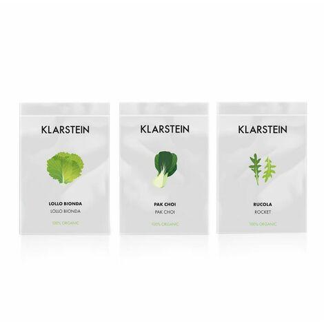 Klarstein GrowIt Seeds Salad 3 sobres de semillas: lollo blanco, pak choi, rúcula