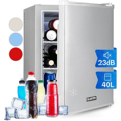klarstein Happy Hour 37 Mini bar 37 L 5-15°C silencieux 0 dB éclairage LED argent