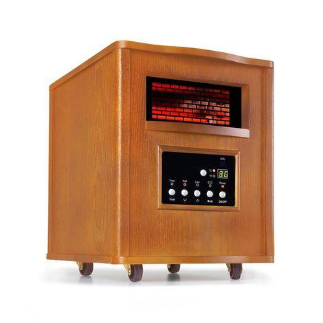 Klarstein Heatbox Radiateur infrarouge chauffage 1500W minuterie 12 h chêne
