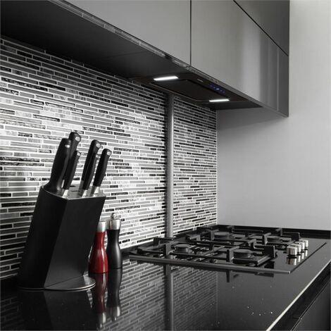 Klarstein HEKTOR SL Hotte murale aspirante filtre aluminium minuterie - noire