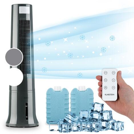 Klarstein Highrise 3-en-1 rafraîchisseur d'air 35 W débit d'air max 530 m³/h pack de glace 2,5 l gris