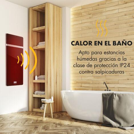 Klarstein Hot Spot Crystal IR Panel calefactor 45x120cm 20m² 850W 5-40°C IP24 Negro