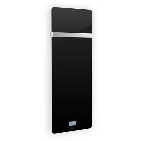 Klarstein Hot Spot Crystal IR Panel calefactor 45x120cm 20m² 850W 5-40°C LED IP24 Negro