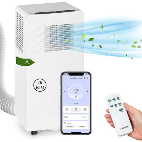 Klarstein Iceblock Ecosmart 7 Aire acondicionado portátil de 7000 BTU/2,1 kW Blanco