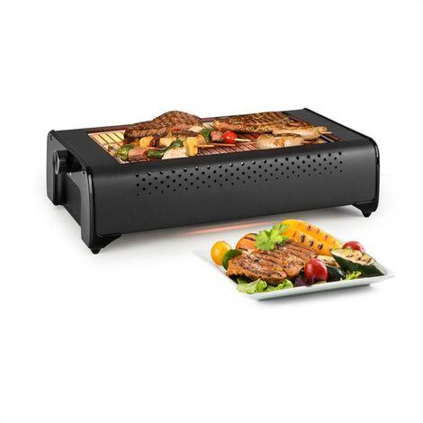 Klarstein Infragrill Barbecue électrique infrarouge élément carbone 1500W - Noir