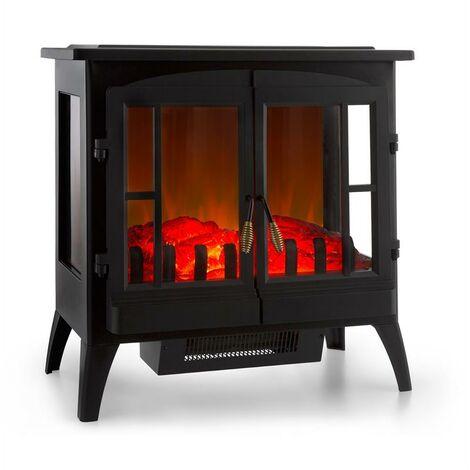 Klarstein Innsbruck Electric Fireplace 1000 / 2000W Thermostat Black