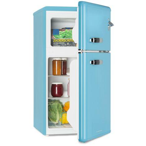 Klarstein Irene Frigorífico combi Nevera de 61L Congelador de 24L Azul
