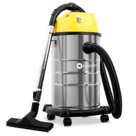 Klarstein IVC-30 aspirador seco húmedo aspirador industrial 1800W 30L amarillo