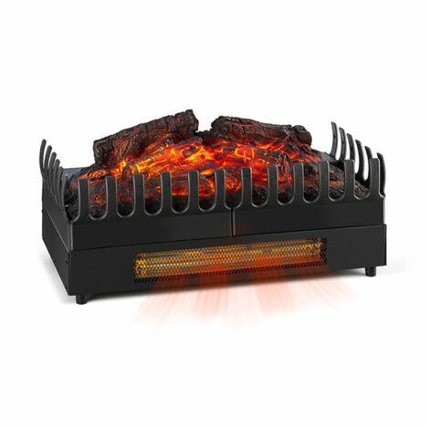 Klarstein Kamini FX Cheminée électrique chauffage 1000 / 2000W 2W LED - noir