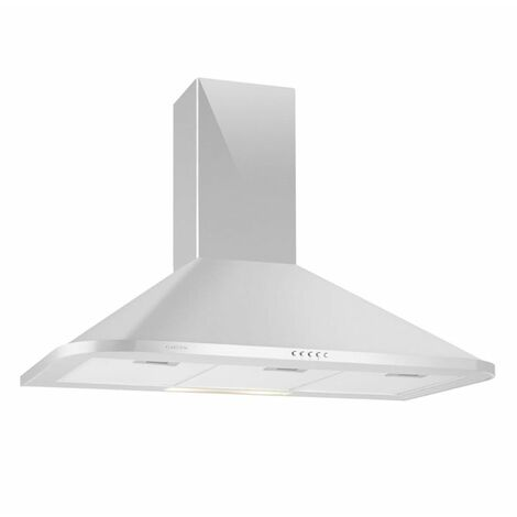 Klarstein Karajan 90 Exhaust Cooker Hood Stainless Steel Fumes Extractor 90 cm Wall-Mounted 536 m³ / h