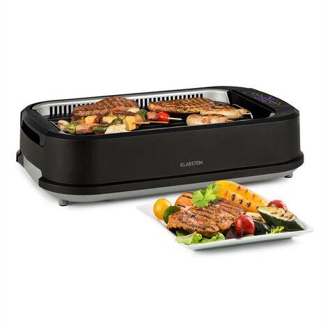 Klarstein Köfte Barbecue électrique 1500W 230° commande tactile inox noir