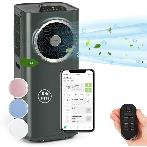 Klarstein Kraftwerk Smart 10K Aire acondicionado portátil de 10 000 BTU/2,9 kW Antracita