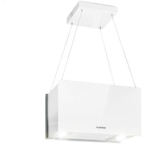 Klarstein Kronleuchter L Campana extractora de isla 60 cm salida 590m³/h LED táctil Blanco