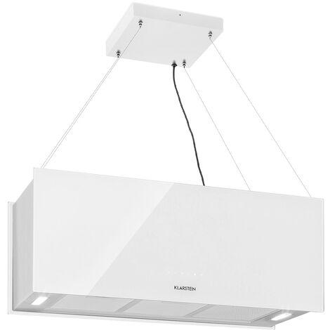 Klarstein Kronleuchter XL extractor para isla 90cm circulación de aire 590m2/h iluminación LED táctil blanco